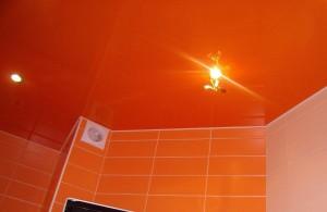 Оранжевые натяжные потолки