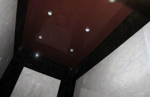 Шоколадные натяжные потолки