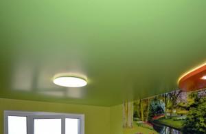 Зелёные натяжные потолки